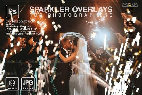 Wedding sparkler overlays, Sparkler overlay, Christmas overlay V11 - 1133248