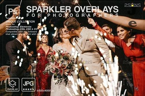 Wedding sparkler overlays, Sparkler overlay V6 - 1133428