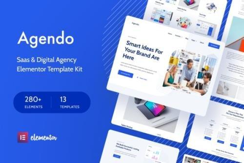 ThemeForest - Agendo v1.0.1 - Digital Agency & Creative Elementor Template Kit - 30602327