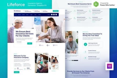 ThemeForest - Lifeforce v1.0.0 - Insurance Agency Elementor Template Kit - 30815879
