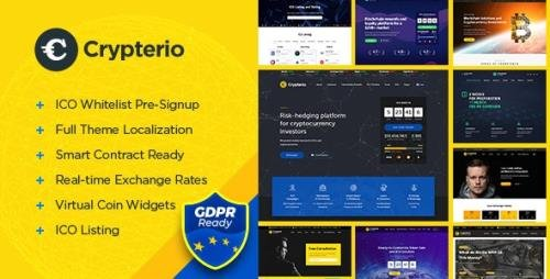 ThemeForest - Crypterio v2.4.0 - ICO Landing Page and Cryptocurrency WordPress Theme - 21274387 -
