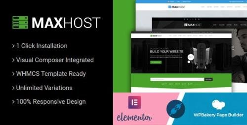 ThemeForest - MaxHost v7.4.2 - Web Hosting, WHMCS and Corporate Business WordPress Theme with WooCommerce - 15827691 -