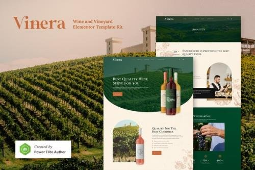 ThemeForest - Vinera v1.0.0 - Wine & Vineyard Elementor Template Kit - 30817755