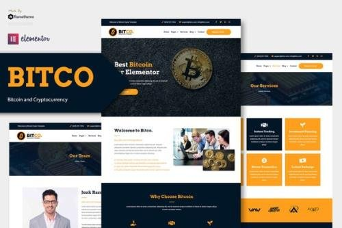 ThemeForest - Bitco v1.0.1 - Bitcoin & Cryptocurrency Elementor Template Kit - 30596292