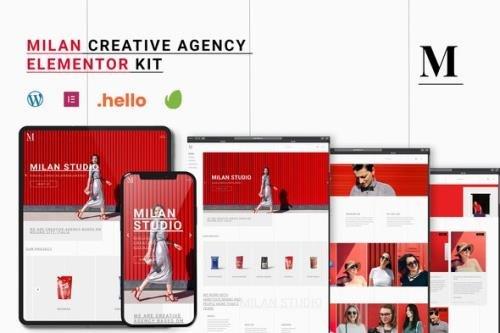 ThemeForest - Milan v1.0.0 - Creative Agency Elementor Template Kit - 30662277
