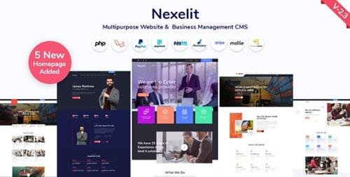 CodeCanyon - Nexelit v2.2 - Multipurpose Website & Business Management System CMS - 27936384 -