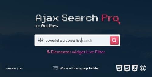 CodeCanyon - Ajax Search Pro v4.20.5 - Live WordPress Search & Filter Plugin - 3357410
