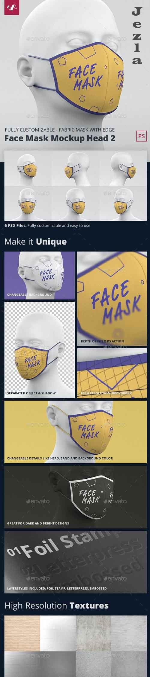 GraphicRiver - Face Mask Mockup Head Fabric 2 30470466