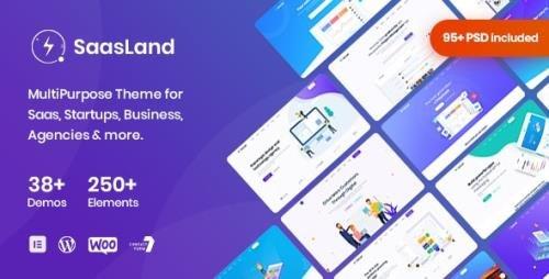 ThemeForest - Saasland v3.3.3 - MultiPurpose WordPress Theme for Saas Startup - 23362980 -