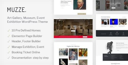 ThemeForest - Muzze v1.3.3 - Museum Art Gallery Exhibition WordPress Theme - 23384660