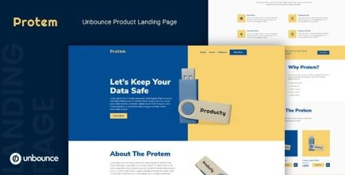 ThemeForest - Protem v1.0 - Unbounce Product Landing Page Template (Update: 8 April 20) - 25031680