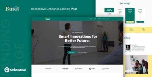 ThemeForest - Basit v1.0 - Unbounce Multipurpose Landing Page Template - 25104227