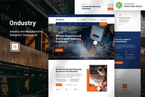 ThemeForest - Ondustry v1.0.0 - Industry & Manufacturing Elementor Template Kit - 30856155