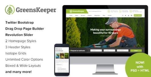 ThemeForest - GreensKeeper v2.7 - Gardening & Landscaping Responsive WordPress Theme - 16269801