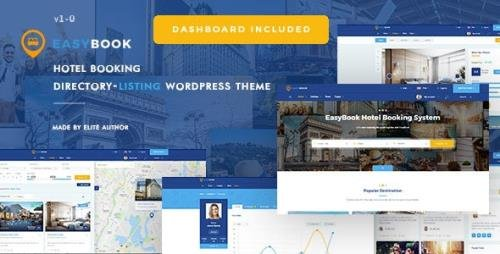 ThemeForest - EasyBook v1.3.4 - Hotel & Tour Booking WordPress Theme - 23206622