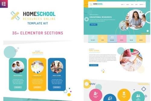 ThemeForest - HomeSchool v1.0.1 - Elementor Template Kit - 26279945