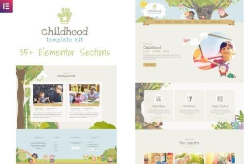 ThemeForest - Childhood Kids v1.0.1 - Child Care Center Elementor Template Kit - 25908361