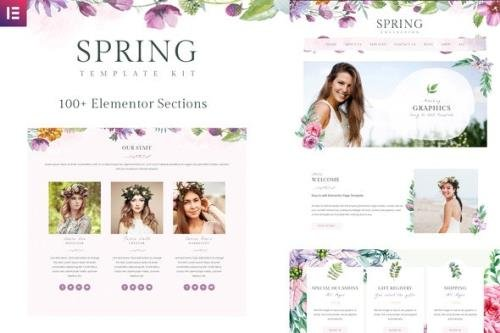 ThemeForest - Spring v1.0.1 - Watercolor and Floral Template Kit - 25853973