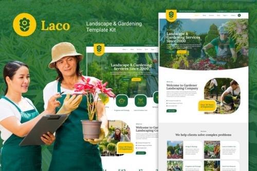 ThemeForest - Laco v1.0.0 - Landscape & Gardening Elementor Template Kit - 29416147