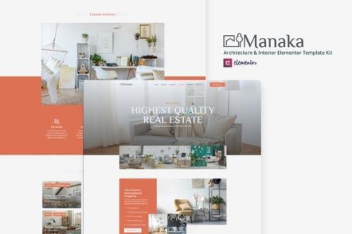 ThemeForest - Manaka v1.0.0 - Architecture & Interior Elementor Template Kit - 30326193