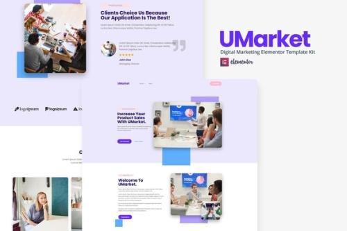 ThemeForest - UMarket v1.0.0 - Digital Marketing Elementor Template Kit - 30362448