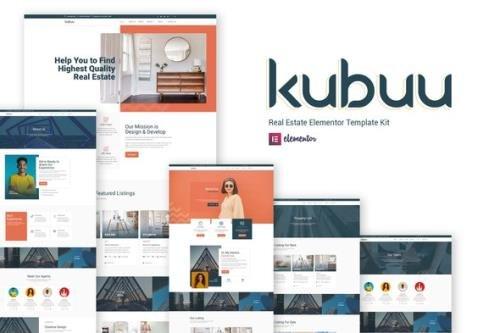 ThemeForest - Kubuu v1.0.0 - Real Estate Elementor Template Kit - 29716569