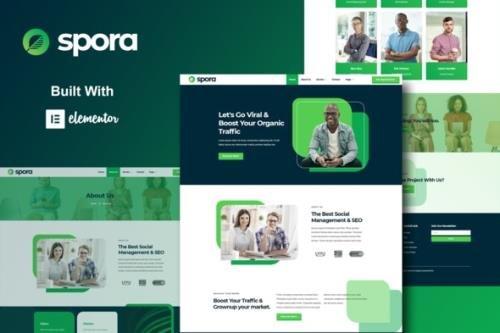 ThemeForest - Spora v1.0.0 - Digital Agency & Creative Elementor Template Kits - 30617055