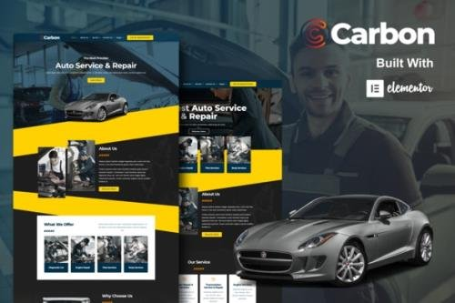 ThemeForest - Carbon v1.0.0 - Car Service Elementor Template Kit - 30595104