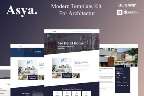 ThemeForest - Asya v1.0.0 - Modern Architecture Elementor Template Kit - 30234268