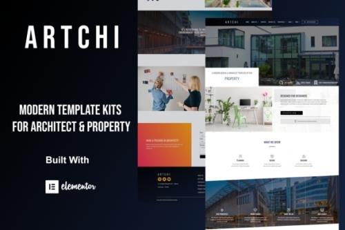 ThemeForest - Artchi v1.0.0 - Modern Architecture Elementor Template Kit - 29912051