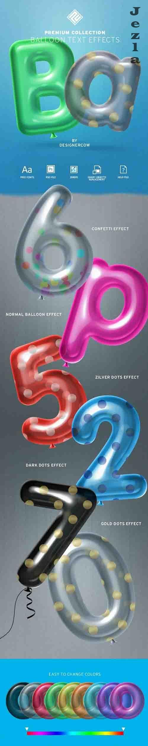 GraphicRiver - Balloon Text Effect - Premium Collection 30379499