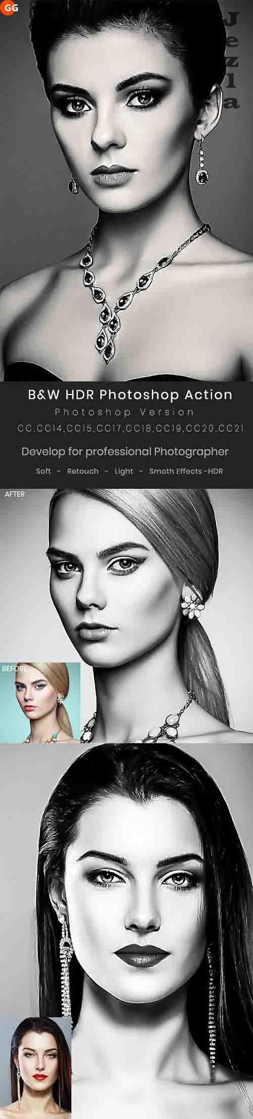 GraphicRiver - B&W HDR PHSP Action 29947060