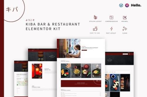 ThemeForest - Kiba v1.1.0 - Bar & Restaurant | Elementor Kit - 29441109