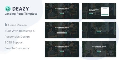 ThemeForest - Deazy v1.0 - Bootstrap 5 Landing Page Template - 30591334