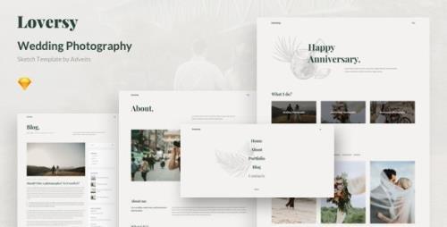 ThemeForest - Loversy v1.1.0 - Wedding Photography Sketch Template - 26315093