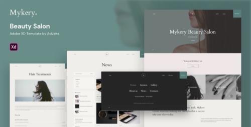 ThemeForest - Mykery v1.0.0 - Beauty Salon  XD Template - 27157680