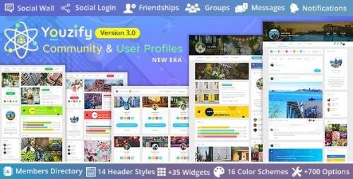 CodeCanyon - Youzify 3.0.3 - BuddyPress Community & WordPress User Profile Plugin - 19716647 + Add-Ons -