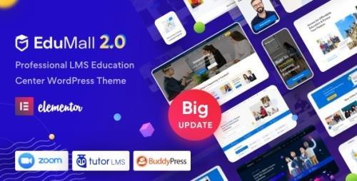 ThemeForest - EduMall v2.4.2 - Professional LMS Education Center WordPress Theme - 29240444 -