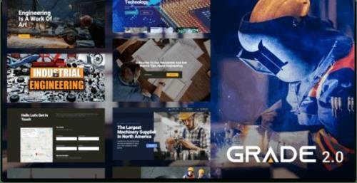 ThemeForest - Grade v2.0.3 - Manufacturing and Industrial WordPress Theme - 17334925