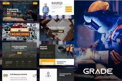 ThemeForest - Grade v1.2.0 - Engineering & Industrial Template Kit - 26422493