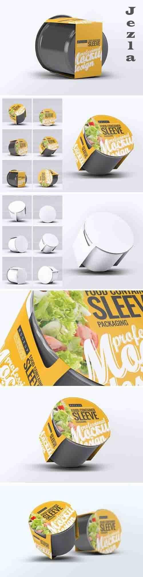 Food Container Sleeve Packaging Mock-Up v.2