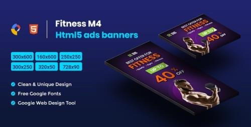 CodeCanyon - Fitness HTML5 Animate Banner Ads- Google Web Design M4 v1.0 - 23758367