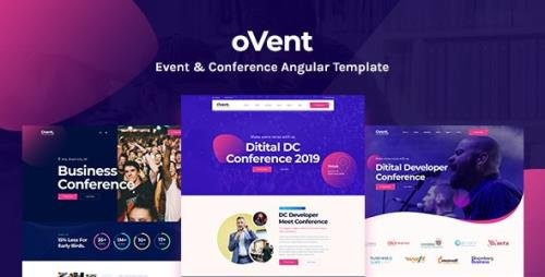ThemeForest - Ovent v1.0 - Angular 10 Event Conference & Meetup Template - 29289852
