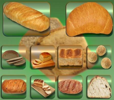 Прозрачные клипарты для фотошопа - Хлебные выпечки