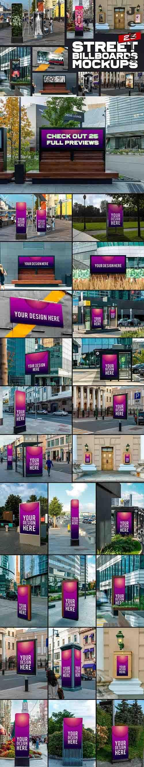 CreativeMarket - 25 Street Billboards Mockups 5643188