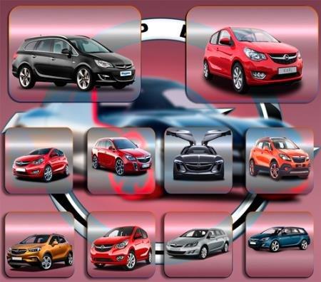 Клипарты без фона - Автомобиль Opel Опель
