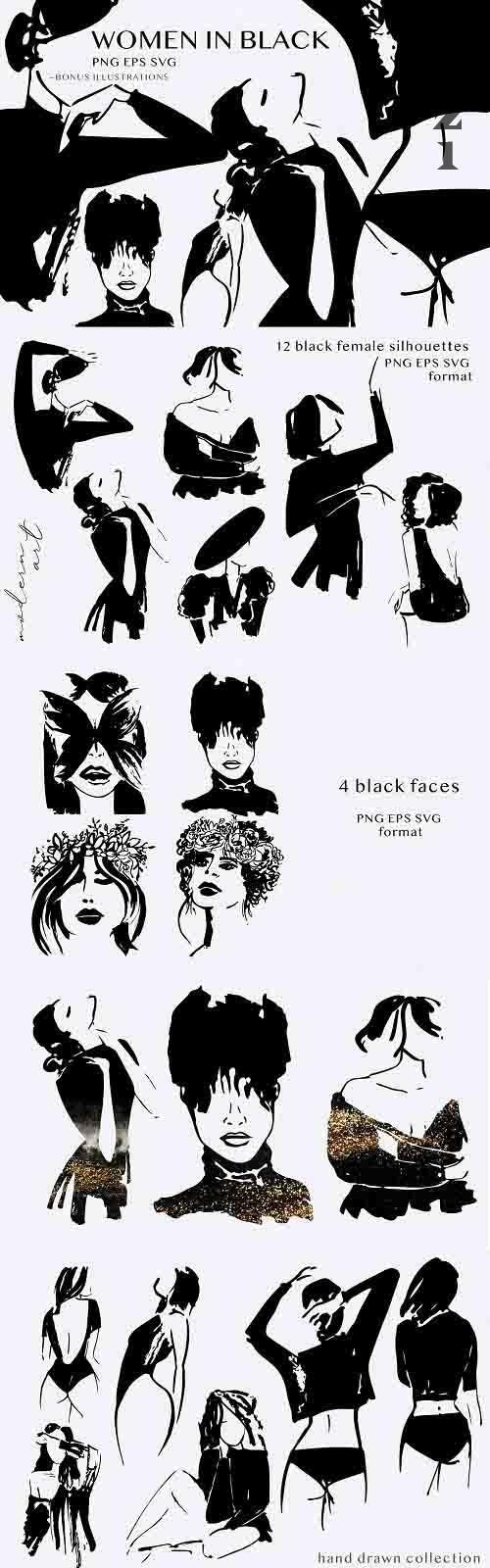 Black women silhouettes - 5929320