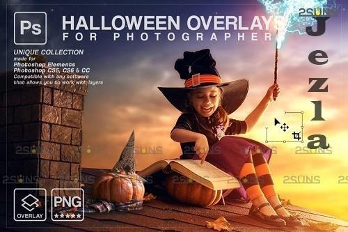Halloween clipart Halloween overlay, PHSP overlay V33 - 1132993