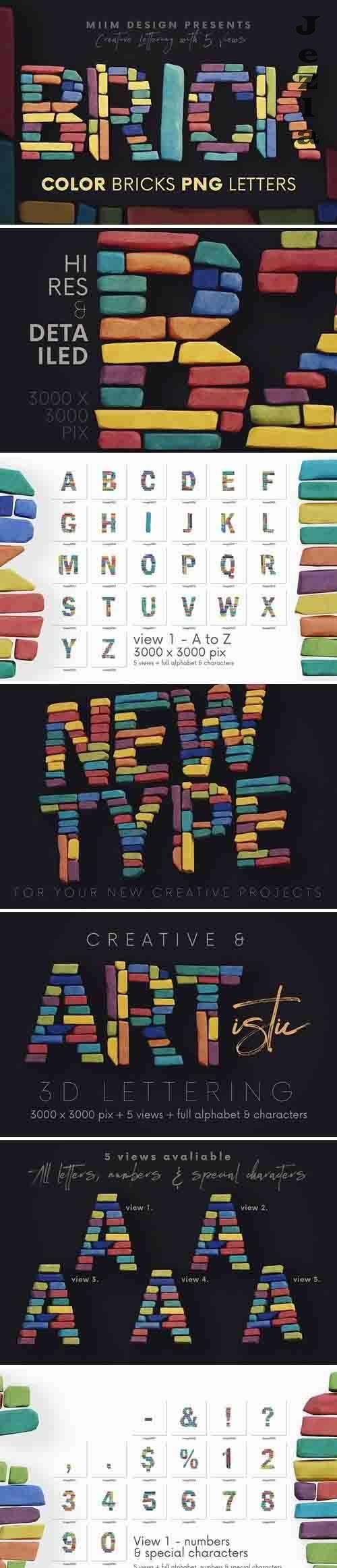 Color Bricks - 3D Lettering - 5825030