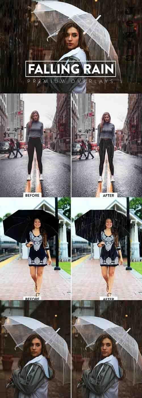 50 Realistic Rain Overlays - 5930148